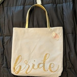 Bride and Mrs. Reversible canvas tote bag